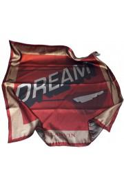 Lanvin Metallic DREAM Graphic Print Silk Square Scarf
