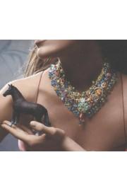 Michal Negrin Multicolor Lace Necklace