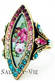 Michal Negrin Biconvex Cameo Crystals Ring