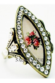 Michal Negrin Biconvex Victorian Rose Ring