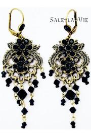 Michal Negrin Black Lace Earrings