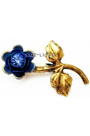 Michal Negrin Blue Rose Brooch