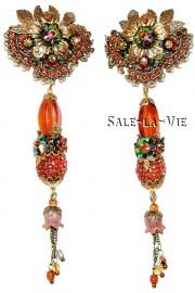 Michal Negrin Bronze Flowers Earrings