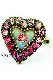 Michal Negrin Crystal Heart Ring