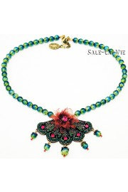 Michal Negrin Exotic Fan Necklace