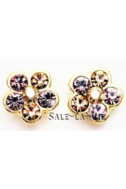 Michal Negrin Gold Plated Lilac Stud Earrings