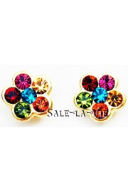 Michal Negrin Gold Plated Multicolor Stud Earrings