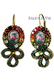 Michal Negrin Multicolor Cameo Earrings