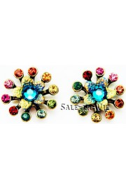 Michal Negrin Multicolor Starburst Stud Earrings