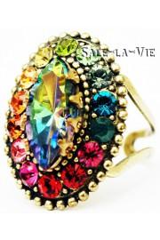 Michal Negrin Multicolor Swarovski Crystals Ring