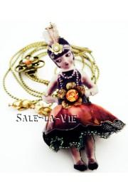 Michal Negrin Flapper Girl 3D Necklace