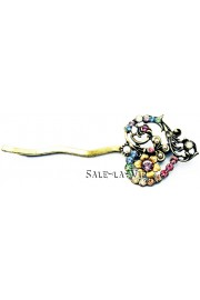 Michal Negrin Pastel Heart Hairpin
