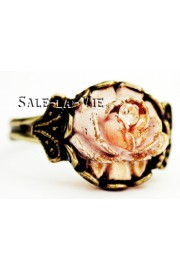 Michal Negrin Peach Vintage Rose Ring