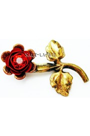 Michal Negrin Red Rose Brooch