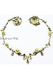 Michal Negrin Romantic Flowers Crystals Necklace