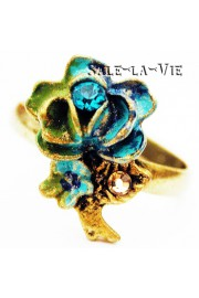 Michal Negrin Turquoise Vintage Rose Ring