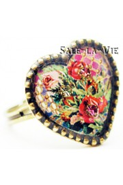 Michal Negrin Valentine Cameo Heart Ring
