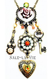 Michal Negrin Victorian Charms Necklace