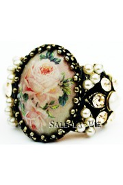 Michal Negrin Victorian Roses Cameo Ring