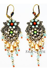 Michal Negrin Vintage Lace Earrings