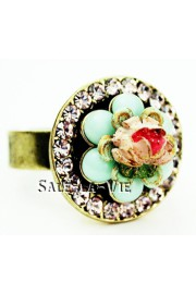 Michal Negrin Vintage Rose Round Ring
