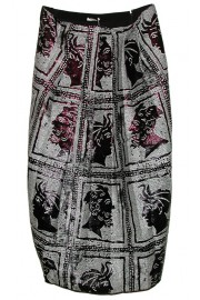 Miu Miu Jacquard Lurex Metallic Greek Pattern Dress