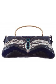 Miu Miu Spider Insect Leather Python Clutch Bag