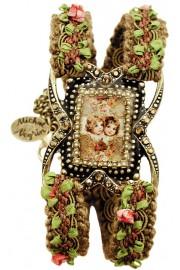Michal Negrin Cherubs Cameo Woven Bracelet