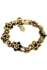 Michal Negrin Black Mirror Bronze Gold Tone Bracelet