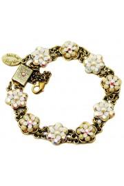 Michal Negrin White Crystal Beads Bracelet