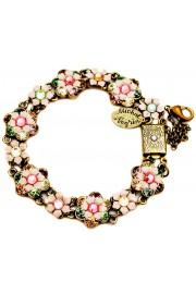 Michal Negrin Pastel Pink Flowers Bracelet