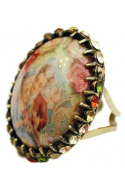 Michal Negrin Cameo Crystals Ring