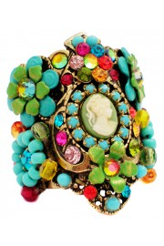 Michal Negrin Multicolor Cameo Cuff Ring