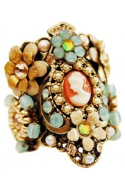 Michal Negrin Vintage Cameo Cuff Ring