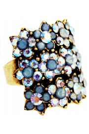 Michal Negrin Icy Blue Triple Row Ring