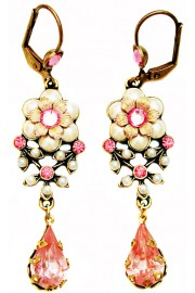 Michal Negrin Pearl Pink Teardrop Earrings