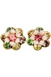 Michal Negrin Pastel Crystal Flower Stud Earrings