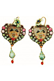 Michal Negrin Multicolor Dolls Kiss Heart Earrings