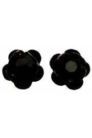 Michal Negrin Black Rose Stud Earrings