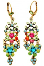 Michal Negrin Multicolor Turquoise Chandelier Earrings