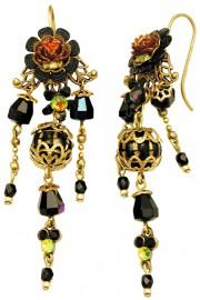 Michal Negrin Black Boho Earrings