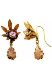Michal Negrin Purple Marble Halo Earrings