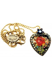 Michal Negrin Antique Rose Cameo Heart Necklace