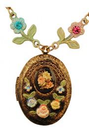 Michal Negrin Vintage Style Locket Necklace