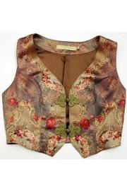Michal Negrin Victorian Roses Vest Top