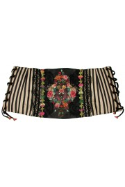 Michal Negrin Stripes Cinch Belt