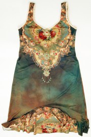 Michal Negrin Victorian Roses Ruffle Dress