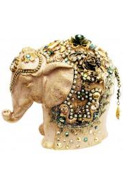 Michal Negrin Cream Elephant Figurine