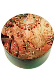 Michal Negrin Victorian Room Round Jewelry Box