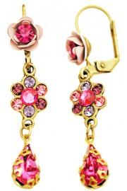 Michal Negrin Fuchsia Pink Teardrop Earrings